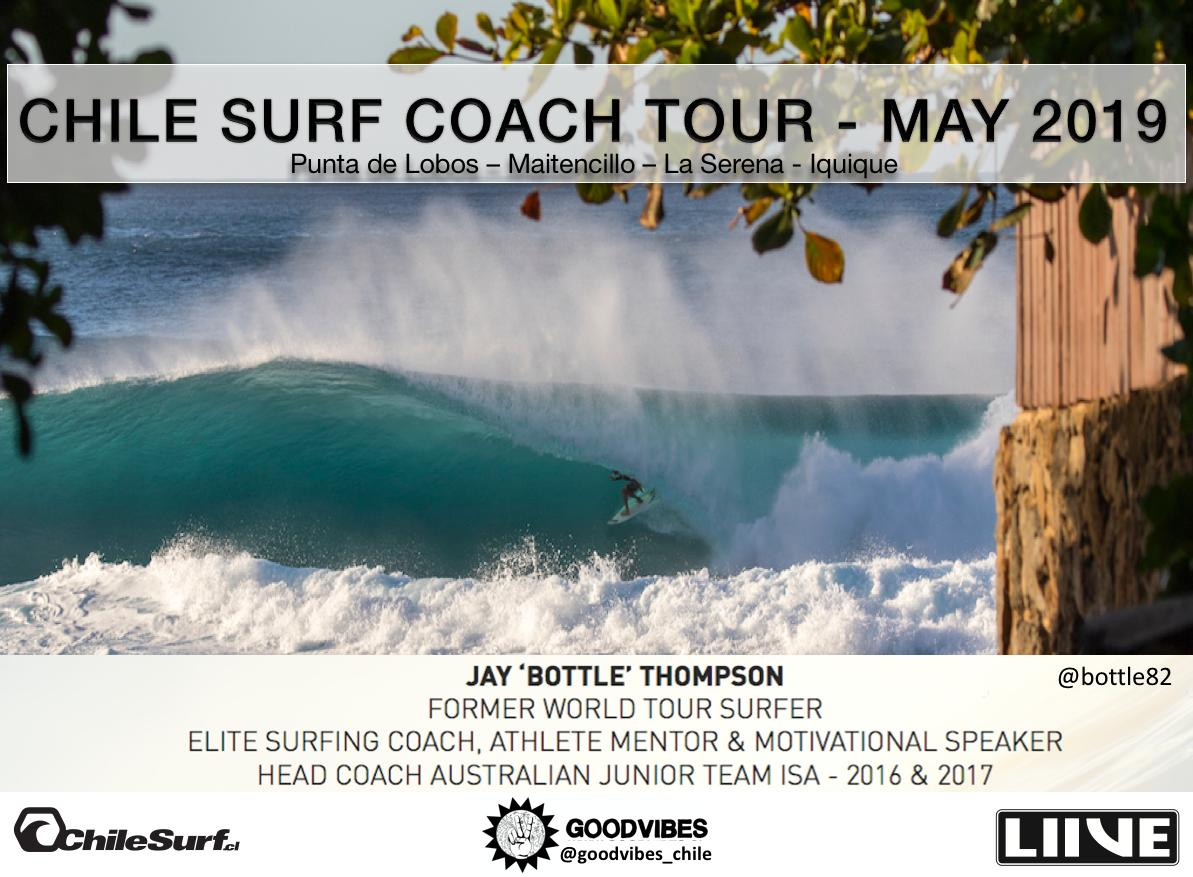Chile Surf Coach Tour (M-A-P) Maximise Athlete Potential 2019 con Jay Bootle Thompson